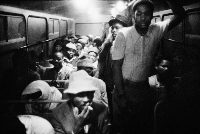 , '3:15 am. Going to work: The Wolwekraal - Marabastad bus is licensed to carry 62 sitting and 29 standing passengers,' 1983, Pace/MacGill Gallery