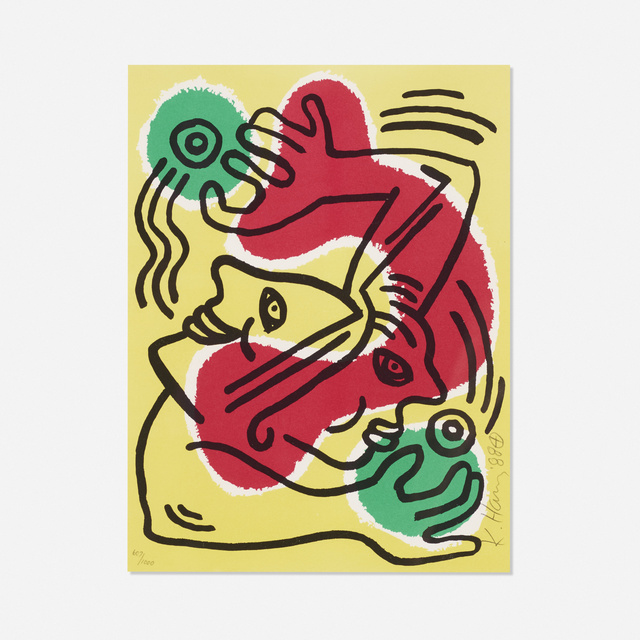 Keith Haring, 'Untitled (United Nations '88)', 1988, Wright