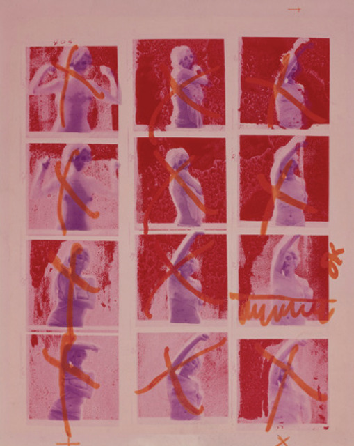 , 'Marilyn Monroe, Contact Sheet, Burgundy Silkscreen from The Last Sitting,' 1962, Keyes Art