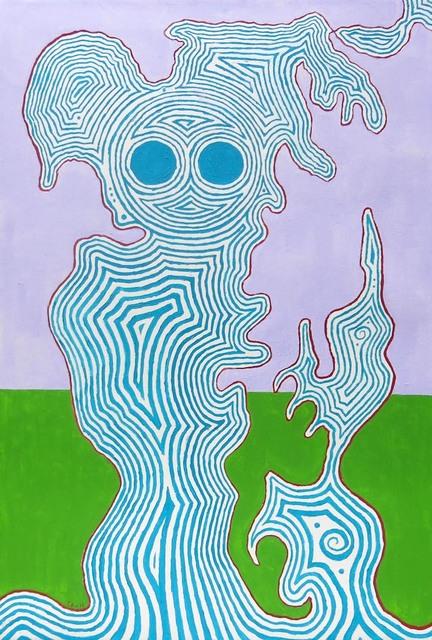 , 'Blue Figure,' 2011, Edward Thorp Gallery