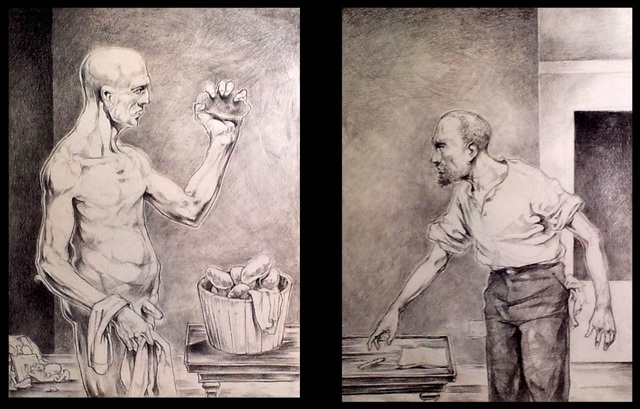 , 'Frankenstein with Potatoes,' 2018, The Secret Gallery