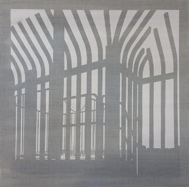 Elizabeth Ferrill, 'Illusion #2', 2018, Print, Rubylith screen print on wire mesh, Michael Warren Contemporary