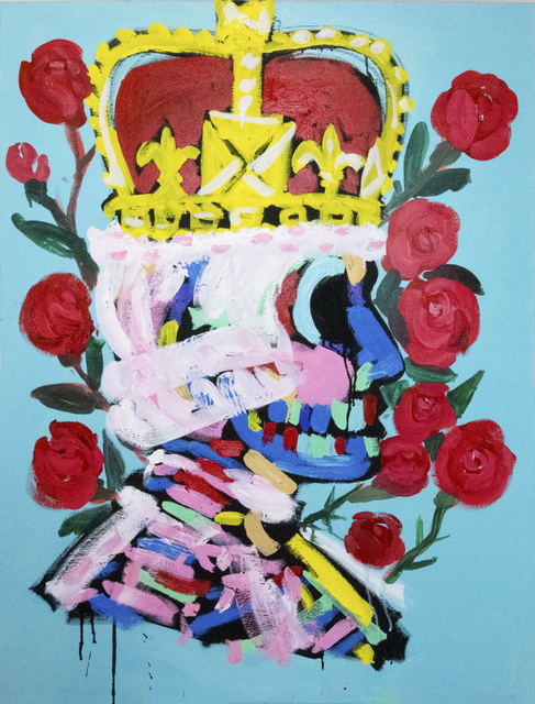 , 'King with Roses ,' 2018, Maddox Gallery
