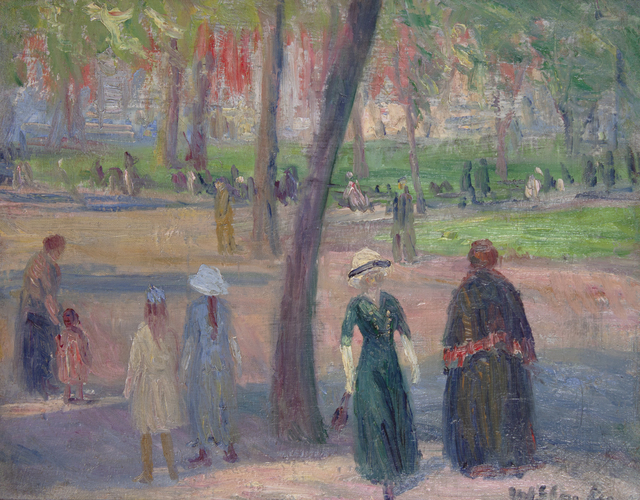 , 'Washington Square – The Green Dress,' ca. 1910, Thomas Colville Fine Art