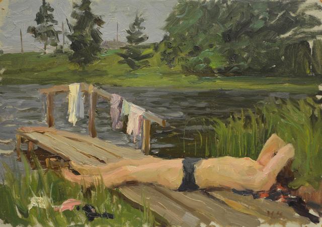 """Nadezhda Eliseevna Chernikova, 'Sketch """"Northern neighbor""""', 1963, Surikov Foundation"""