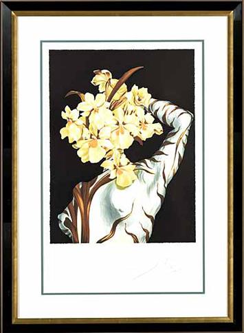 "Salvador Dalí, '""Surrealist Flower"" Hand Signed Salvador DaliLithograph', 1941-1957, Elena Bulatova Fine Art"