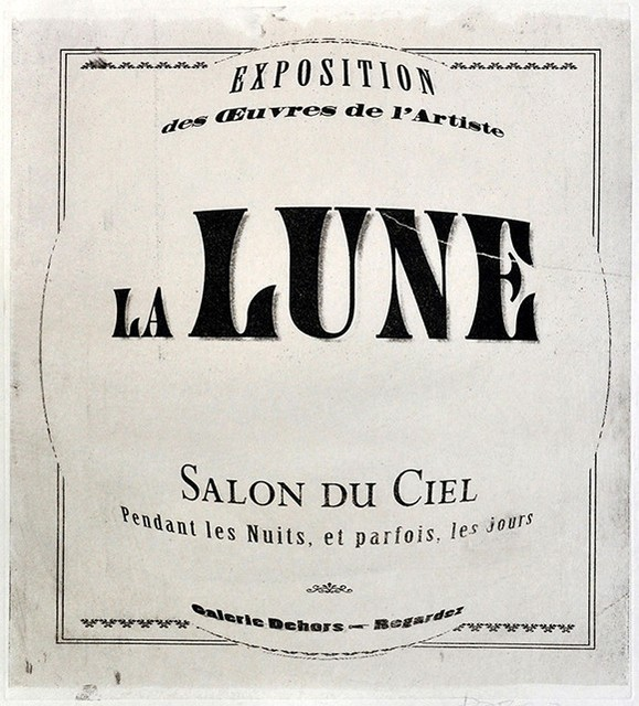 , ' L'Artiste, La Lune ,' ca. 2018, The Schoolhouse Gallery