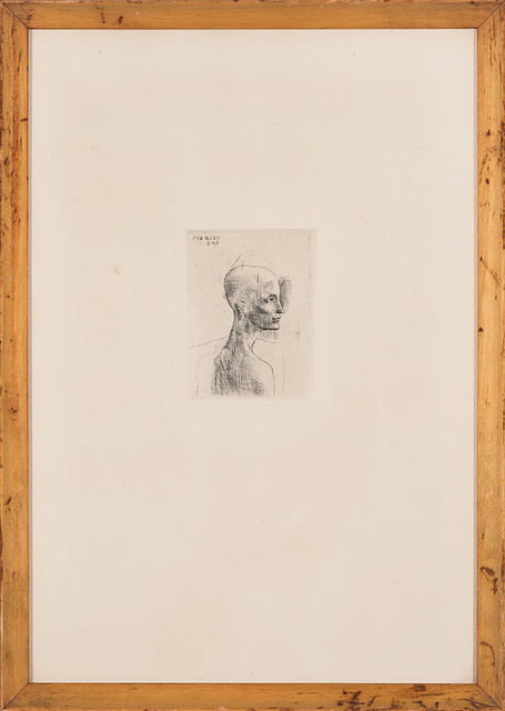 Pablo Picasso, 'Buste D'Homme (Bloch 4)', 1905, Print, Drypoint, on Van Gelder Zonen wove paper, Doyle