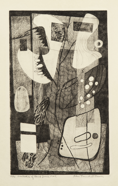 , 'Orientation of Closed Forms,' 1945, Washburn Gallery