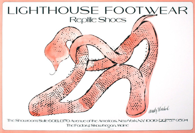 Andy Warhol, 'Andy Warhol Lighthouse Footwear Poster 1979', 1979, Lot 180