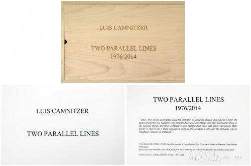 Luis Camnitzer, 'Two Parallel lines', 2014, Kunzt Gallery