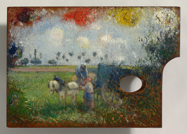 Camille Pissarro, 'The Artist's Palette with a Landscape', 1878-1880, Other, Oil on panel, Clark Art Institute