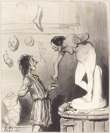 Honoré Daumier, 'Pygmalion', 1842, National Gallery of Art, Washington, D.C.
