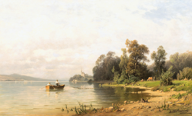 , 'View to Maria Wörth at lake Wörther See,' ca. 1880, Galerie Kovacek & Zetter