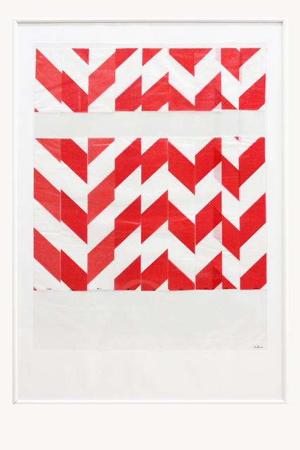 Charlotte Pann, 'Barrier Tape, Plastic Sleeve, Transparent Foil', 2017, Painting, C-Print on Paper, Alfa Gallery
