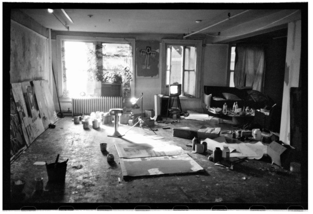 , 'Basquiat's studio with windows,' 1983, Galerie Peter Sillem