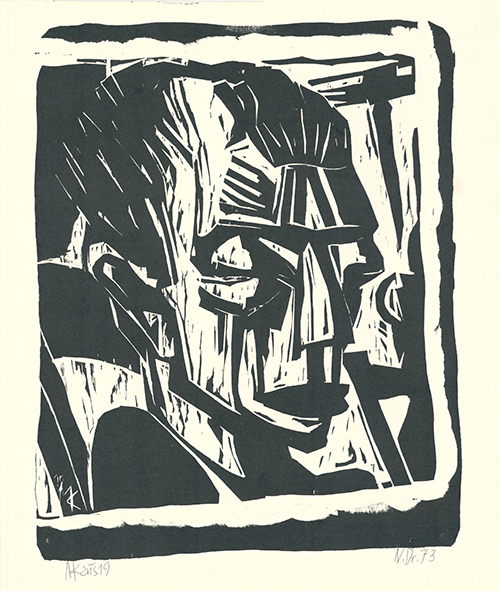 Max Kaus, 'Männerkopf', 1919, Sylvan Cole Gallery