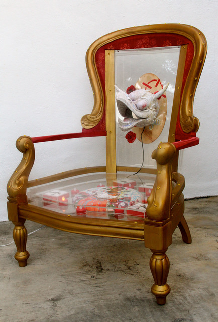 , 'Yesterday in a Padded Room... (painted throne),' 2015, Wei-Ling Gallery