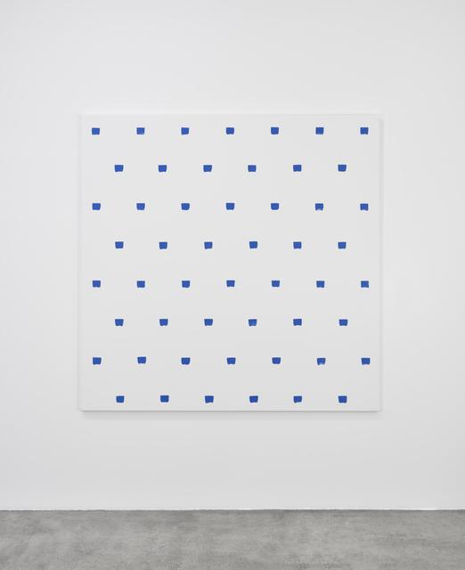 , 'Empreintes de pinceau n°50 à intervalles réguliers de 30 cm,' 2016, Marian Goodman Gallery