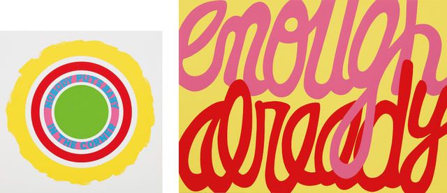 Deborah Kass, 'Nobody Puts Baby in the Corner; and Enough Already', 2009 and 2014, Phillips
