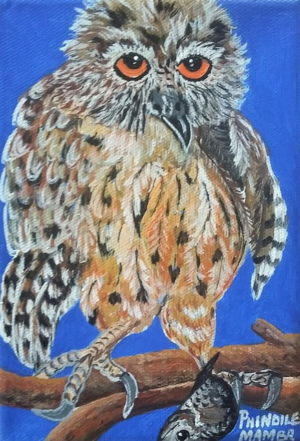 Phindile Mamba, 'My friend the owl', 2019, Yebo Art Gallery