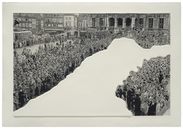 , 'Crowds with Shape of Reason Missing: Example 1,' 2012, Mixografia