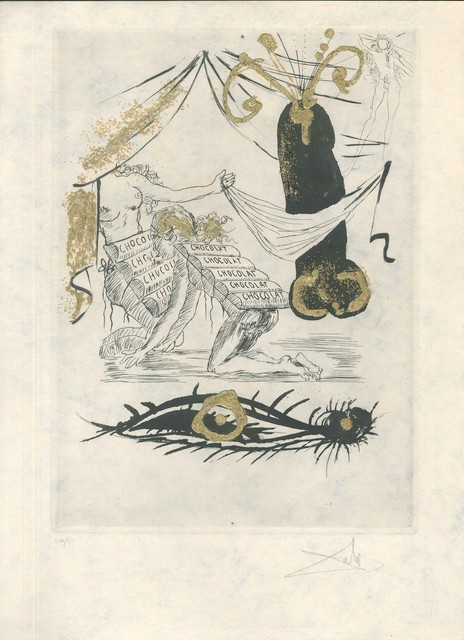 "Salvador Dalí, 'A la memoire de Zulma - from ""Les Amours Jaunes""', 1974, Wallector"