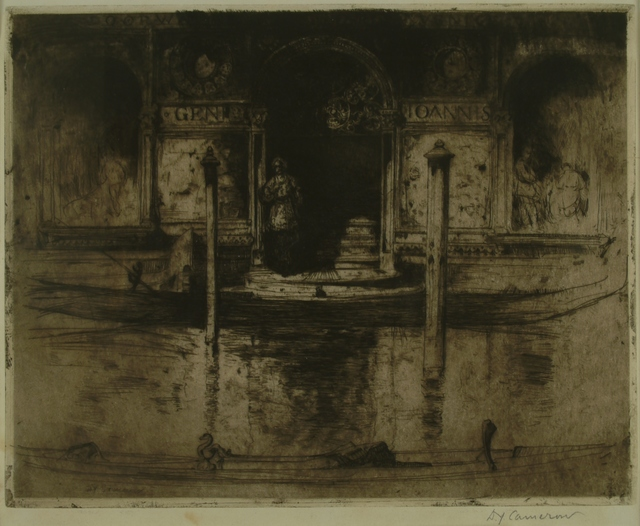 Sir David Young Cameron, 'The Palace Doorway (Palace of Joannis Darius), Venice', 1895, Private Collection, NY