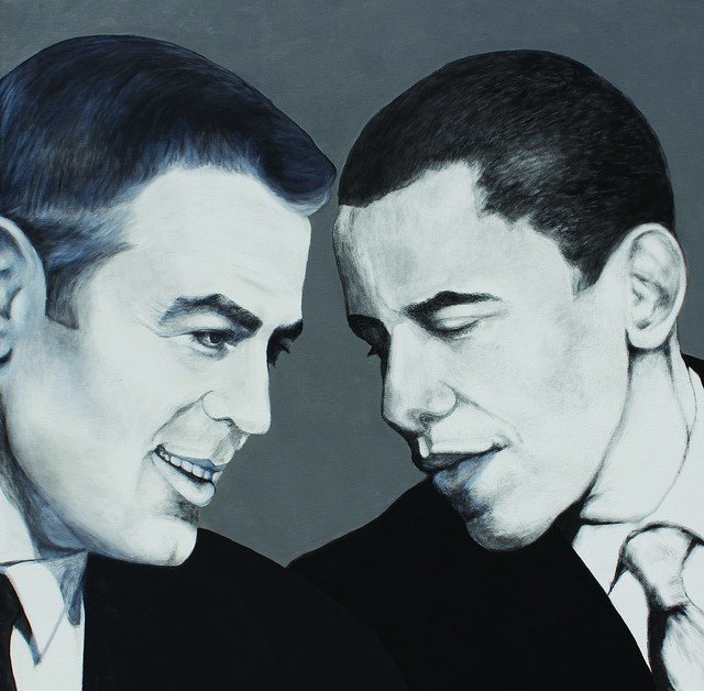 , 'Barack y George,' 2013, Canale Diaz Art Center