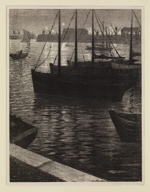 , 'Le Port,' 1919, The Fine Art Society