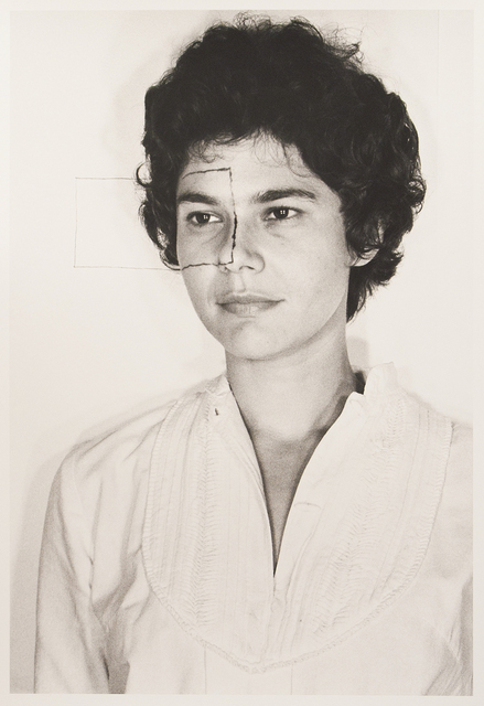 , 'Untitled, (Self portrait with square II),' 1973, Carrie Secrist Gallery