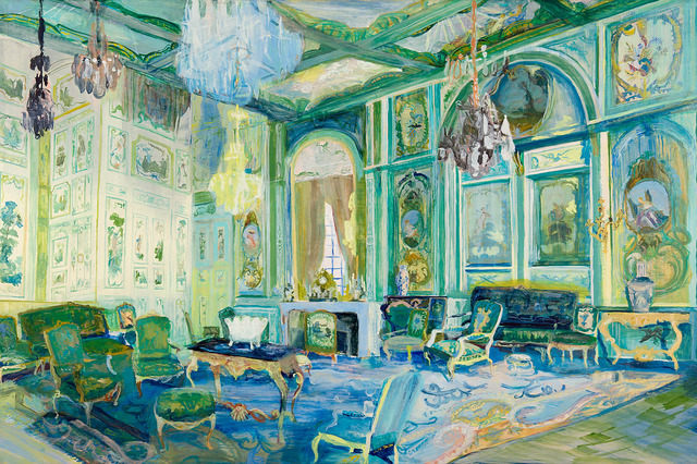 , 'Room with Green Boiseries,' 2010, Locks Gallery