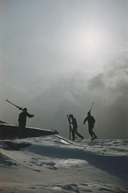 Slim Aarons, 'Cranmore Mountain Skiers ', 1955, IFAC Arts