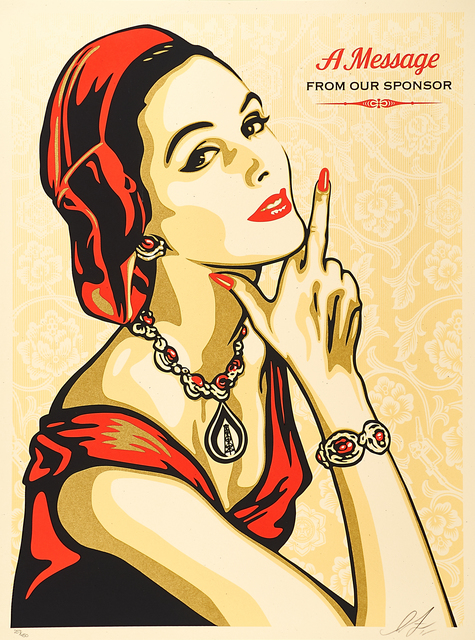 Shepard Fairey, 'A Message from Our Sponsors', 2015, Rago/Wright