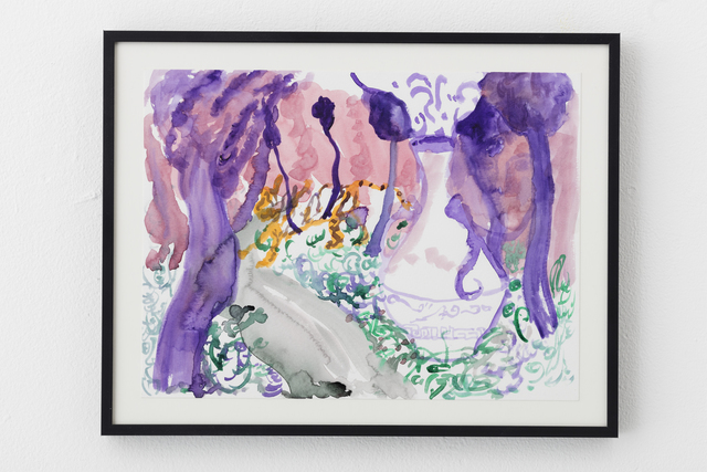 Tk Suh, 'Purple Haze', 2020, Drawing, Collage or other Work on Paper, Watercolor on Paper, Gallery LVS
