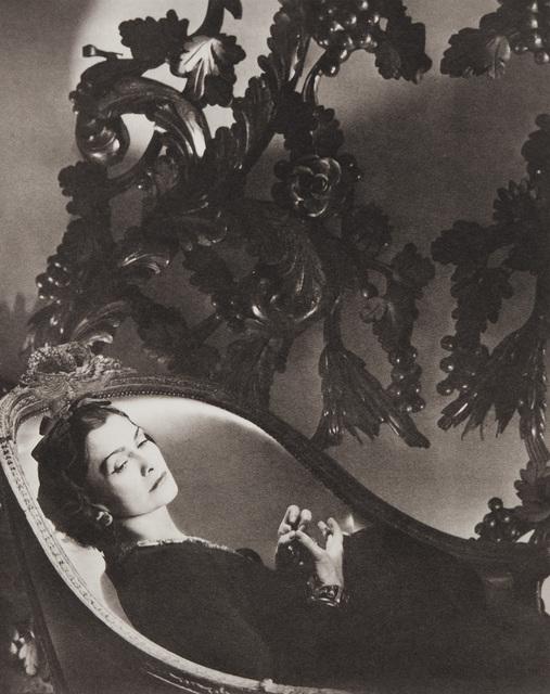 Horst P. Horst, 'Coco Chanel, II, Paris', 1937, Photography, Platinum palladium print, printed later., Phillips
