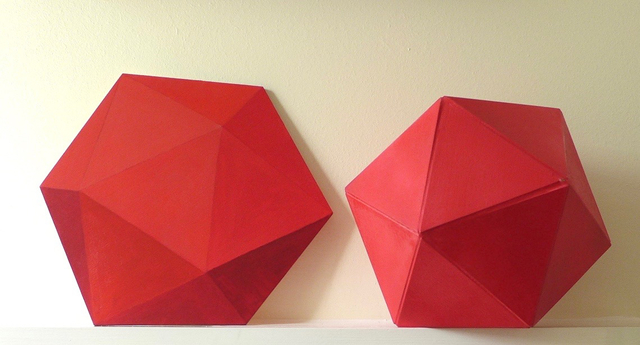 , 'Painted Icosahedrons (Real Platonic Forms),' 2017, Joanna Bryant & Julian Page