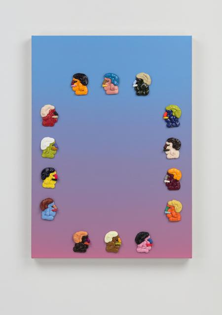 Adam Beris, 'Grande Vista #7', 2019, Painting, Oil, acrylic, googly eyes on linen, Over the Influence
