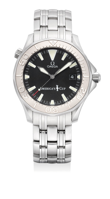 OMEGA, 'A fine and attractive limited edition wristwatch with helium gas escape valve, date and bracelet with original presentation box and international guarantee, numbered 388 of a limited edition of 9999 pieces', 2000, Phillips