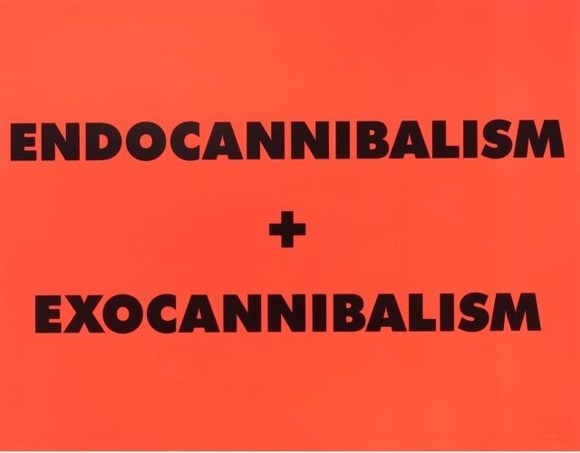 Sterling Ruby, 'ENDOCANNIBALISM + EXOCANNIBALISM', 2016, Moderna Gallery