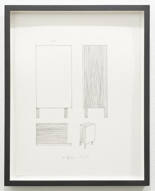 Roy McMakin, 'Untitled (a plain cabinet)', 2012, Lora Reynolds Gallery