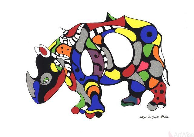Niki de Saint Phalle, 'Rhinoceros', (Date unknown), ArtWise