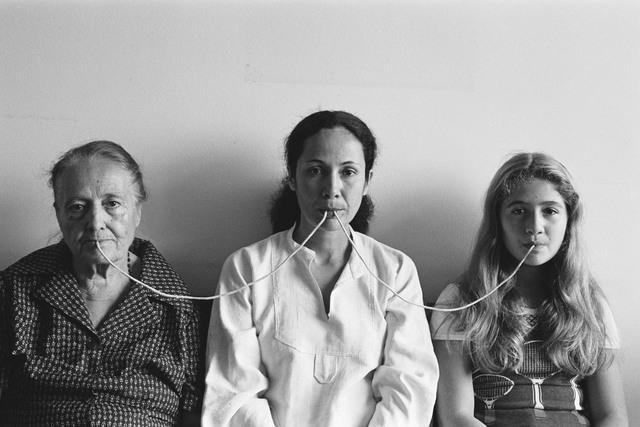 , 'Por um Fio (serie fotopoemação) from Photo-poem-action series,' 1976, Galleria Raffaella Cortese