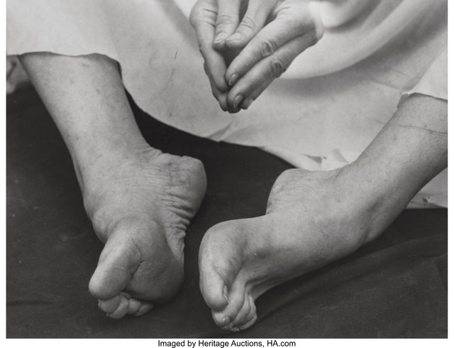 Imogen Cunningham, 'Martha Graham's Feet', 1931, Photography, Gelatin silver, Heritage Auctions