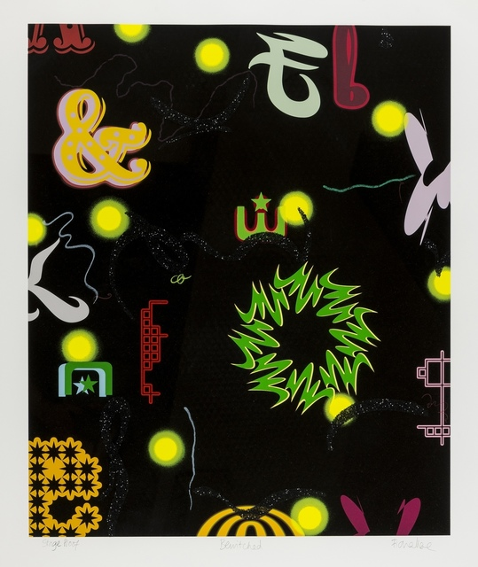 Fiona Rae, 'Bewitched', 2001, Print, Screenprint in colours with glitter, Forum Auctions
