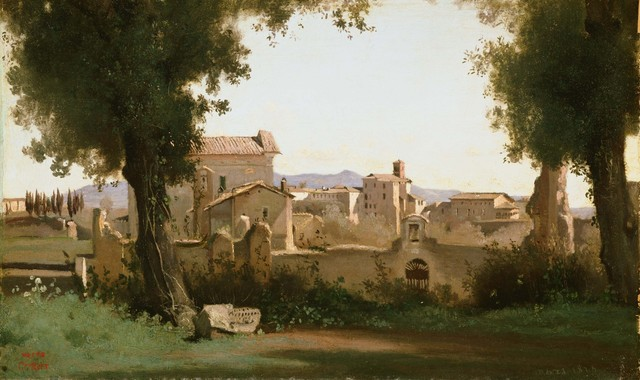 Jean-Baptiste-Camille Corot, 'View from the Farnese Gardens, Rome', 1826, Phillips Collection
