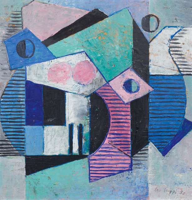 Leo Leuppi, 'Untitled', 1930, Painting, Oil on cardboard, collage, Koller Auctions