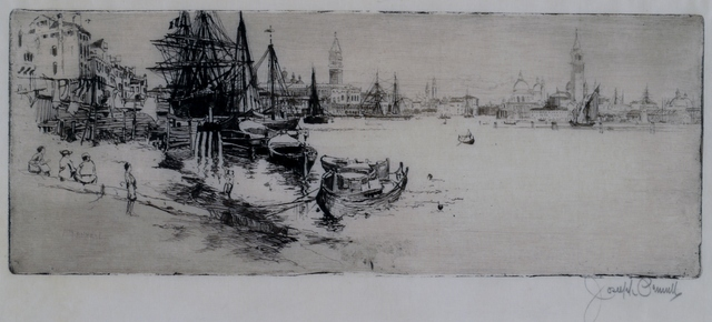 Joseph Pennell, 'Yesterday and Today in Venice', 1883, Private Collection, NY