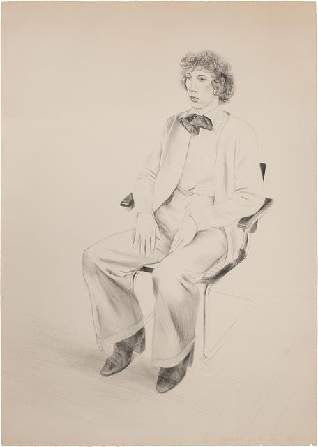David Hockney, 'Gregory Evans (S.A.C. 176; M.C.A.T. 165)', 1976, Doyle