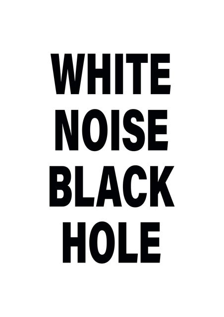 , 'White Noise Black Hole,' 2018, 50 Golborne